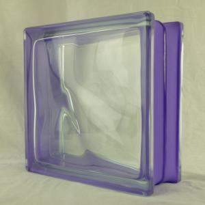 ガラスブロック 国際基準サイズ 世界で有名なブランド品 厚み80mmサイドカラー紫雲gb6380|ihome