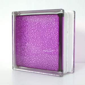 ガラスブロック 国際基準サイズ 世界で有名なブランド品 厚み80mmインカラー 紫色満天星gb6480|ihome