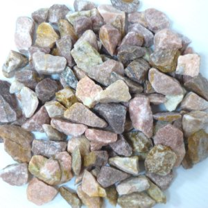 砂利庭砕石敷石防犯砂利ガーデニング綺麗なピンク化粧砂利(0.8kgサンプル)