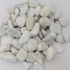 玉砂利庭ガーデニング砕石ホワイト白化粧玉石(25kg送料無料)