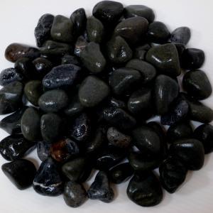 玉砂利庭ガーデニング砕石ブラック黒化粧玉石30kg