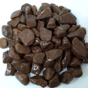 玉砂利庭ガーデニング砕石ブラウン化粧玉石30kg