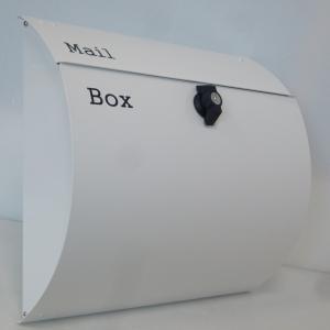 郵便ポスト郵便受けおしゃれかわいい人気北欧モダンデザインメールボックス壁掛けプレミアムステンレス ホワイト白色ポストpm064-1|ihome