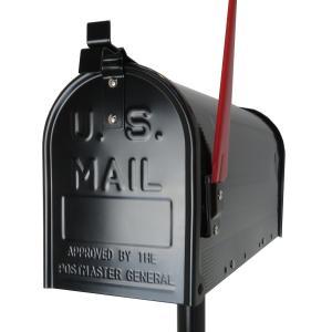 郵便ポスト郵便受けおしゃれかわいい人気アメリカンUSメールボックススタンドお洒落なブラック色ポストpm082|ihome