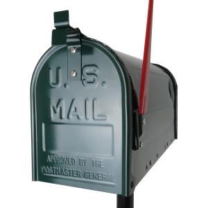 郵便ポスト郵便受けおしゃれかわいい人気アメリカンUSメールボックススタンドお洒落なグリーン緑色ポスト...