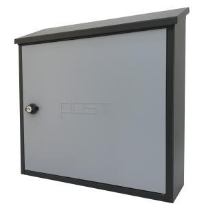 郵便ポスト郵便受けおしゃれかわいい人気北欧モダンデザイン大型メールボックス 壁掛け鍵付きマグネット付きグレー灰色ポストpm201|ihome