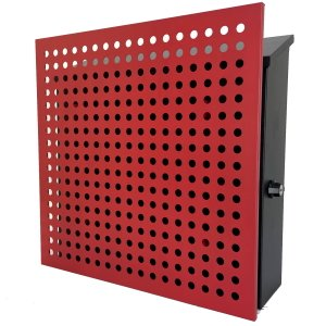 郵便ポスト郵便受けおしゃれかわいい人気北欧モダンデザイン大型メールボックス 壁掛け鍵付きマグネット付きレッド赤色ポストpm207|ihome