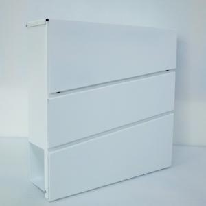 郵便ポスト郵便受けおしゃれかわいい人気北欧モダンデザイン大型メールボックス 壁掛け鍵付きマグネット付きホワイト白色ポストpm231|ihome