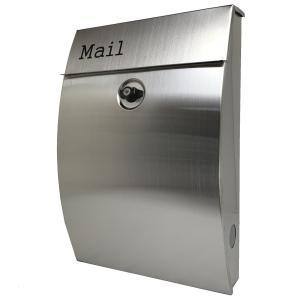 郵便ポスト郵便受けおしゃれかわいい人気北欧モダンデザイン大型メールボックス 壁掛けプレミアムステンレスシルバーステンレス色ポストpm251 ihome