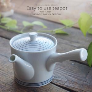 和食器 お茶 有田焼 白磁渦 ステンレス 茶漉し付 中 急須 ティーポット 茶器 食器 緑茶 紅茶 ハーブティー おうち うつわ 陶器 日本製|ii-otto