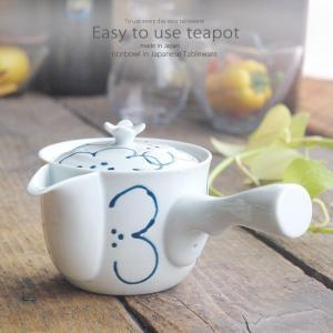 和食器 お茶 有田焼 花紋 ステンレス 茶漉し付 雀口 急須 ティーポット 茶器 食器 緑茶 紅茶 ハーブティー おうち うつわ 陶器 日本製|ii-otto