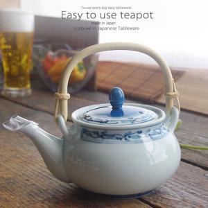和食器 美味しい お茶 有田焼 菊地紋 茶漉し付 500cc 土瓶 ティーポット 茶器 食器 緑茶 紅茶 ハーブティー おうち うつわ 陶器 日本製|ii-otto