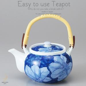 和食器 美味しい お茶 白書有田焼 濃葉彩 650cc 土瓶 ティーポット 茶器 食器 緑茶 紅茶 ハーブティー おうち うつわ 陶器 日本製|ii-otto