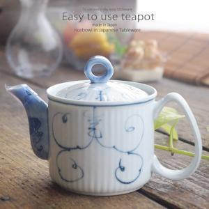 和食器 お茶 有田焼 唐草ぶどう ステンレス 茶漉し付 軽量 ティーポット 茶器 食器 緑茶 紅茶 ハーブティー おうち うつわ 陶器 日本製|ii-otto