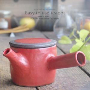 和食器 本気にさせる美味しい お茶 赤錆 急須 ティーポット 茶漉し付 茶器 食器 緑茶 紅茶 ハーブティー おうち うつわ 陶器 日本製 美濃焼|ii-otto