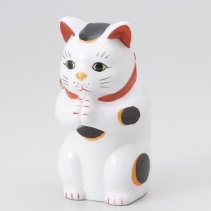 縁起物赤絵お祈り猫大 ネコ ねこ 縁起物 置物 ギフト 厄除け 開運 雑貨 金運 招き猫|ii-otto