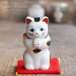 縁起物赤絵お祈り猫小 ネコ ねこ 縁起物 置物 ギフト 厄除け 開運 雑貨 金運 招き猫|ii-otto