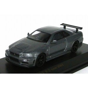CARNEL【カーネル】1/64 ニスモ R34 GT-R Z-tune 2004 Gray Metallic|iiado-oska