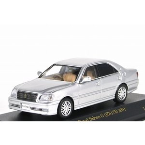 CARNEL【カーネル】1/43 トヨタ クラウン ロイヤル サルーン G (JZS175) 2001 シルバー メタリック|iiado-oska