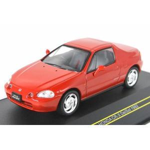 FIRST:43/ファースト43 1/43 ホンダ CR-X デルソル 1992 レッド iiado-oska
