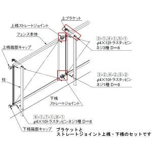 LIXIL TOEX アルメッシュ1型/2型フェンス用 取付部品セット|iidaya