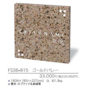 スタイルプラス モダン表札 FS36-815 ゴールドバレー|iidaya
