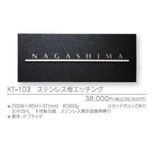 メタル(金属)表札 ステンレス板シエッジング KT103|iidaya
