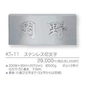メタル(金属)表札 ステンレス切り文字 KT-11 (2文字)|iidaya