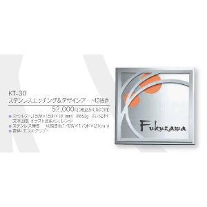 メタル(金属)表札 ステンレスエッチング&デザインアート切抜き KT-30|iidaya
