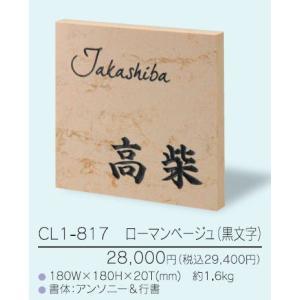表札 クリスターロ CL1-817(黒文字) iidaya