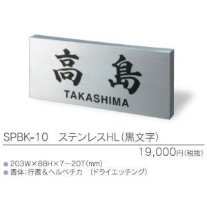 古い表札にかぶせる表札 カポット SPBK-10 ステンレスHL(黒文字)|iidaya
