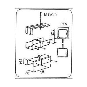 LIXIL TOEX  ハイサモア ブラケット&直線継手セット(現行品)|iidaya