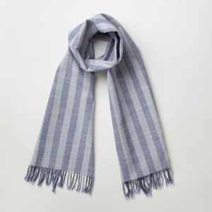 IIE Lab. Traditional stole 藤縞 会津木綿 ストール 日本製 伝統工芸|iie