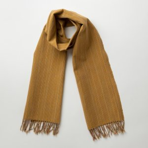 IIE Lab. Traditional stole からしやたら縞 会津木綿 ストール 日本製 伝統工芸|iie