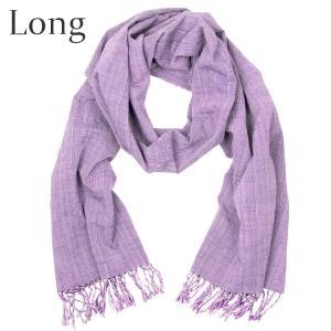 【再入荷】 IIE 会津木綿のストール 薄紫やたら縞 日本製 福島県会津|iie