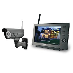 ELPA ワイヤレスカメラモニターセット ネット接続 CMS-7110