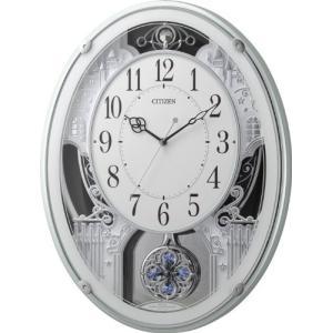 CITIZEN 電波掛け時計 パルミューズプラウド 緑メタリック色 4MN512-005 iigsp