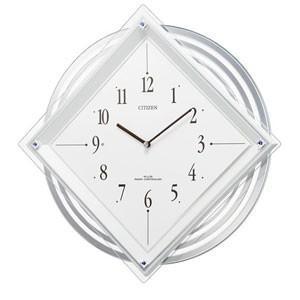 CITIZEN モダン振子電波掛け時計 パルミューズスター 白 4MX403-003 iigsp