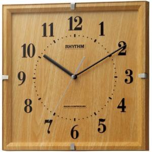 リズム時計 電波掛時計 ライブリーエミリ 薄茶木目仕上 8MY502SR07|iigsp
