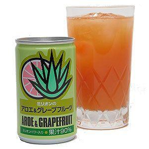 フルーツジュース ミリオンのアロエ&グレープフルーツ|iimon-ajisen
