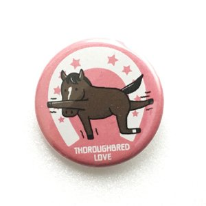 【LINEスタンプ缶バッジB018】ヨガ(ピンク)(缶バッジ6個以上で送料無料)
