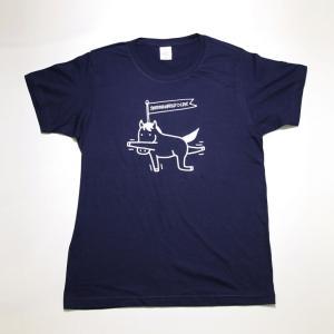 競馬 グッズ  Tシャツ 半袖 馬ヨガ ネイビー プレゼント メール便 送料無料 LINEスタンプ サラブレッド LOVE かわいい C003
