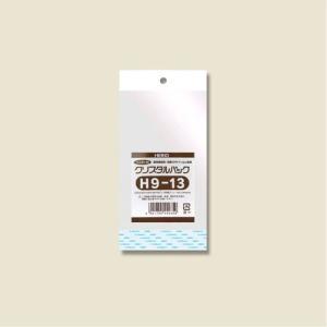 クリスタルパックH(ヘッダー付き)(H9-13#6746100 HEIKO)100枚入り メール便|iimono-ya