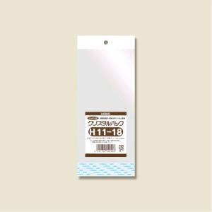 クリスタルパックH(ヘッダー付き)(H11-18#6746600 HEIKO)100枚入り メール便|iimono-ya