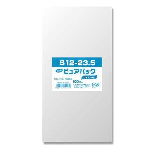 OPP袋 ピュアパック[S12-23.5(長3サイズ) #006798227 HEIKO]100枚入り iimono-ya