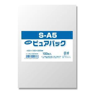 OPP袋 ピュアパック[S-A5(16-22.5) #006798238 HEIKO]100枚入り iimono-ya