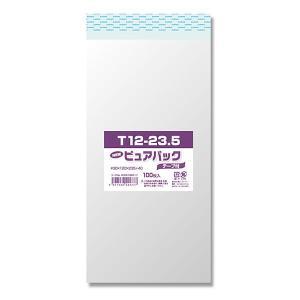 OPP袋 ピュアパック テープ付き[T12-23.5(長3サイズ) #006798317 HEIKO]100枚入り|iimono-ya