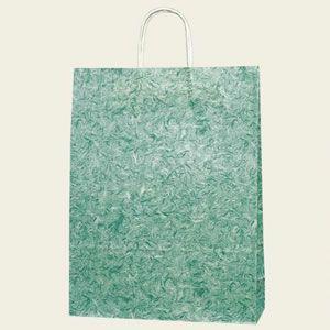 紙袋 25チャームバッグ (2才雲竜緑#3230100 HEIKO)50枚入り|iimono-ya