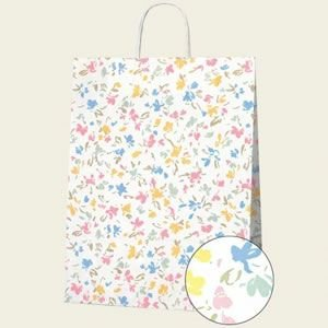 紙袋 25チャームバッグ (2才ペールフラワー#3230000 HEIKO)50枚入り|iimono-ya