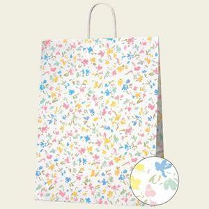 紙袋 25チャームバッグ (カスタムBペールフラワー#3281800 HEIKO)50枚入り|iimono-ya